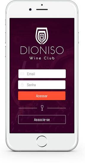 Aplicativo Dioniso Wine Club